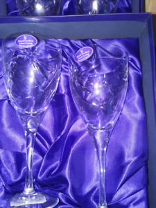 Royal Dalton Crystal Wine Goblets