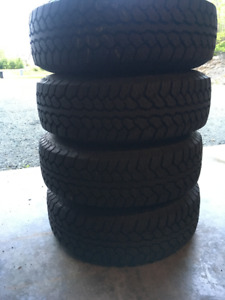 Total Terrain A/T2 Tires 225/75/15 on Jeep Alloy Rims