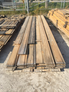1x8 Pine Boards with Pattern PILE -  LUMBER CLEAROUT