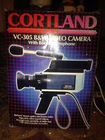 Vintage Cortland VC205B/W VideoCamera w/boom mic