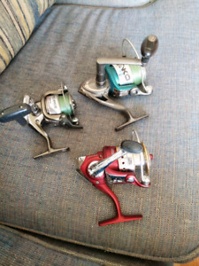 3 fishing reels for sale