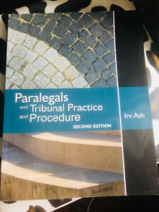 Paralegals and Tribunal Practice and Procedures, second edition