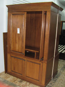 Solid Maple Wall Unit, TV Stand - Item  UC7807-2
