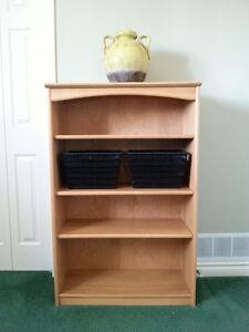 Solid Birch Bookshelf with adjustable shelves