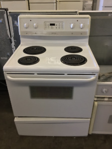 Frigidaire White Electric Coil Top Stove