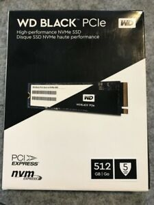 NEW - 512gb WD Black PCIe NVMe SSD
