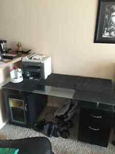 Barely Used Z-line Gen-X Glass Top Executive Desk