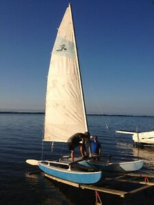 Hobie 14 and trailer