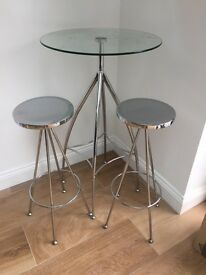 Bistro table and 2 stools