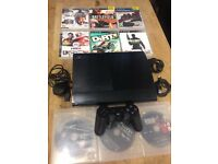 Playstation 3 Suoer Slimline Bundle 9 Games 1 Dualshock Pad All Leads Excellent Condition