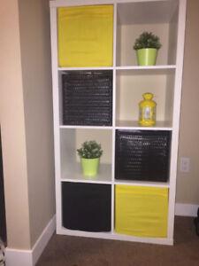 White Shelf unit/TV stand