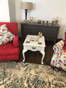 One coffee table and two side tables