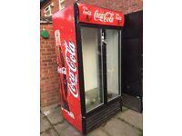 Coca Cola Fridge / Upright Double Door Chiller