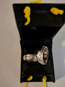 Two Sterling Silver Rings (~size 5.5 and 6)