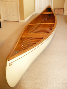 1950's Langford Cedar/Canvas Canoe