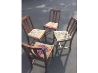4 old vintage chairs