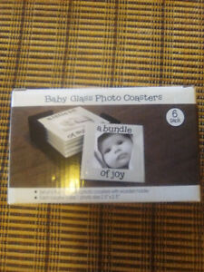 Baby Glass Photo coaster set