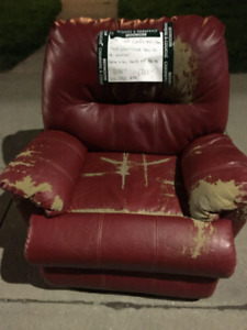 Free red leather chair.