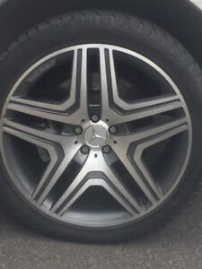 5 Mags Mercedes ML63 AMG + 5 Wheels 21 inch OEM 5x122 10inch
