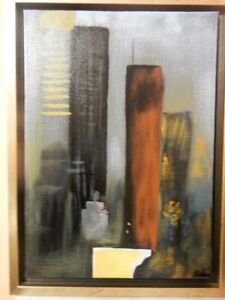 Helena Barros Original Hand Painted Oil Painting in Wooden Frame