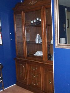 solid china cabinet