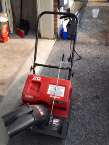 "20"" Electric Craftsman Snow Thrower"