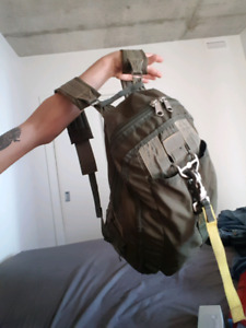 One of a kind army backpack (RECYLED MILITARY PARACHUTE