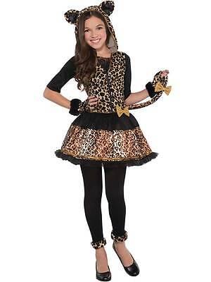 ts Leopard Fancy Dress Halloween Animal Costume Ages 8-16 (Leopard Spots Halloween)