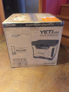 Goal Zero Yeti 1250 Solar generator/ Back up power supply.
