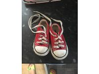 Red converse size 5 infant