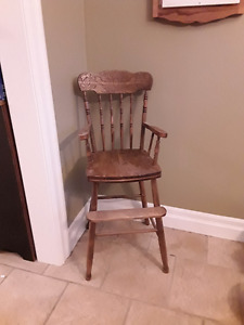 Antique pressback children's  highchair
