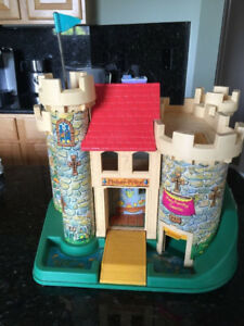Vintage Fisher-Price Little People Castle #993 and Jetport #933