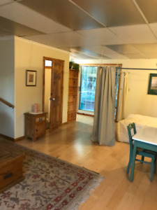 Clean, Furnished, Ground Level Studio Living Space