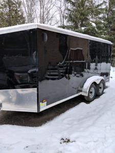 2018 enclosed 7x16ft trailer