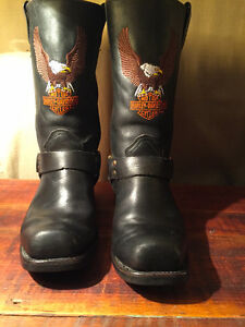 Harley Davidson Harness Black Motorcycle Boots