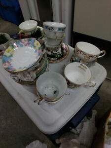 Box of Bone China Tea Sets