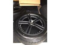 Anthracite Team dynamics Le Mans - 18' alloys & tyres 5x100 - Astra etc