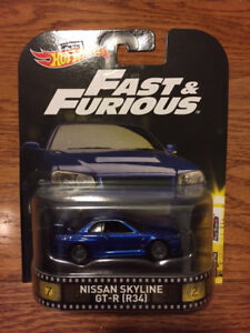 Hot Wheels Retro Ent - Fast & Furious Nissan Skyline R34 GT-R