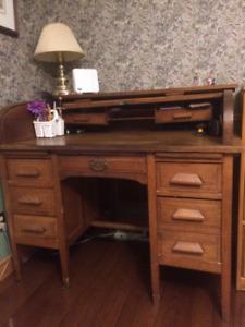 Antique D-Rolltop desk