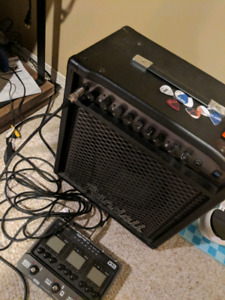 Randall amp, G3 zoom pedal and boss distortion pedal