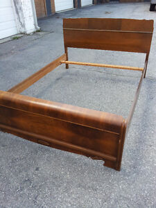 Vintage Solid Wood Full Twin/Double Size Bed
