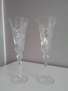 Flûtes à champagne en cristal Royal Doulten