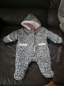 0-3 month girl snow suits