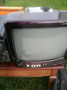 "13"" Zenith purple translucent TV"