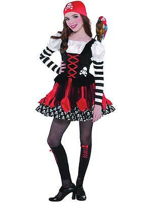 Girls Pirate Crossbone Cutie Halloween Fancy Dress Kids Costume Ages 3-11 Years](Girl Halloween Costumes Age 11)