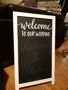 """Affiche """"Welcome To our Wedding"""""""