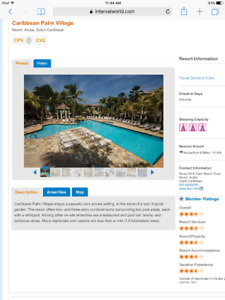 ARUBA  December 16-23 1 brm available with full kitchen..