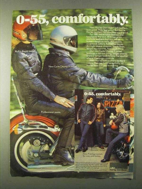 1981 Harley-Davidson Ad - Ruff-n-Ready Jacket