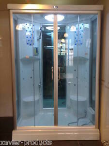 2 SEAT STEAM SHOWER ROOM CABIN ENCLOSURE CUBICLE NEW XAVIER SAUNA TWO
