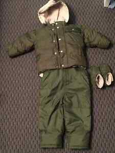 GAP Toddler's Down Overall Winter Pants and Jacket, with Booties